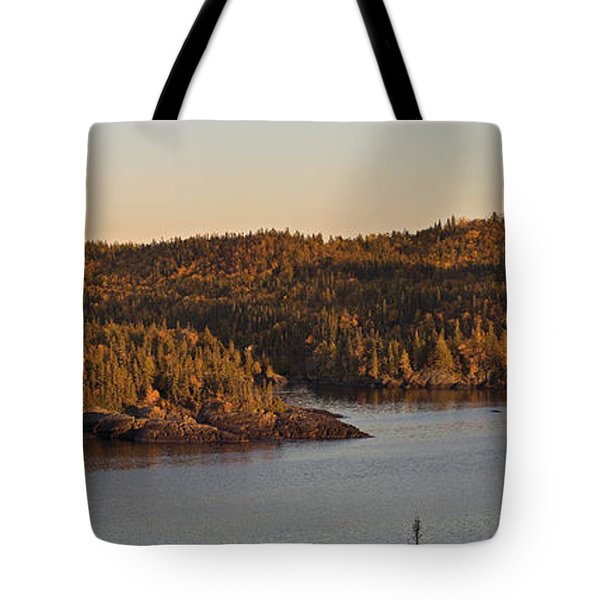 Moon Rise Over Pukaskwa Tote Bag