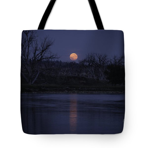 Moon Rise Over The Tongue Tote Bag
