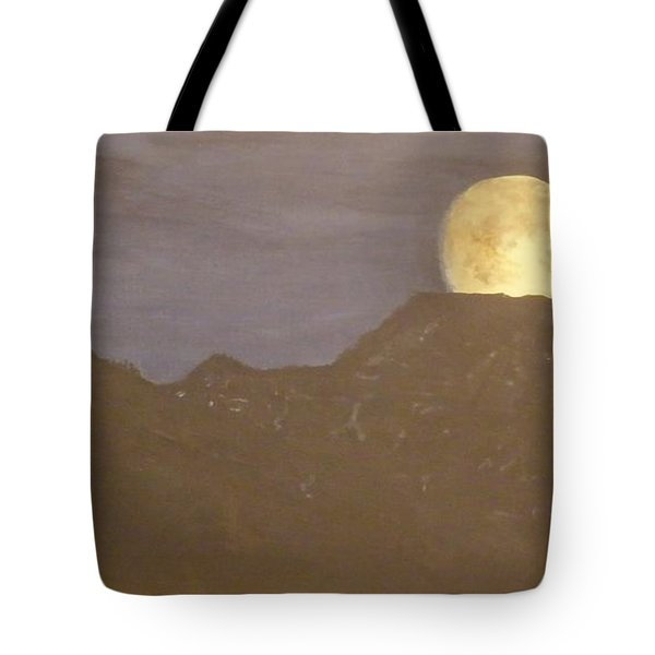 Tote Bag featuring the painting Moon Rising by Betty-Anne McDonald