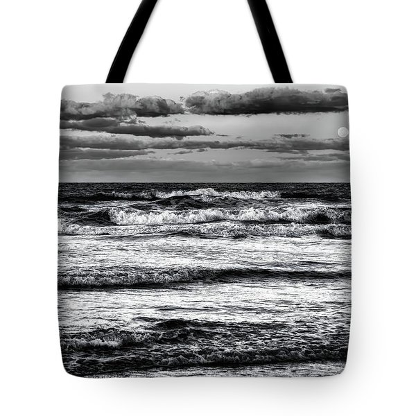 Tote Bag featuring the photograph Moon Rising  by Louis Ferreira