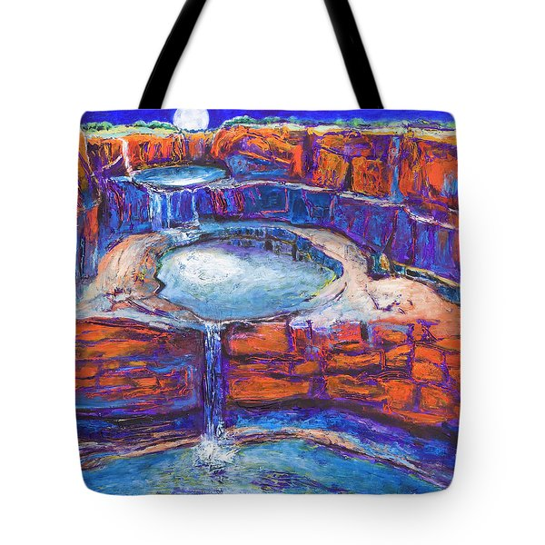 Moon Rising Over The Mitchell Falls Tote Bag