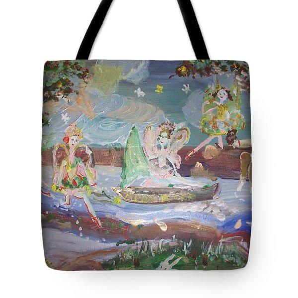 Moon River Fairies Tote Bag by Judith Desrosiers