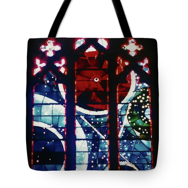 Moon Rock In Space Window Tote Bag