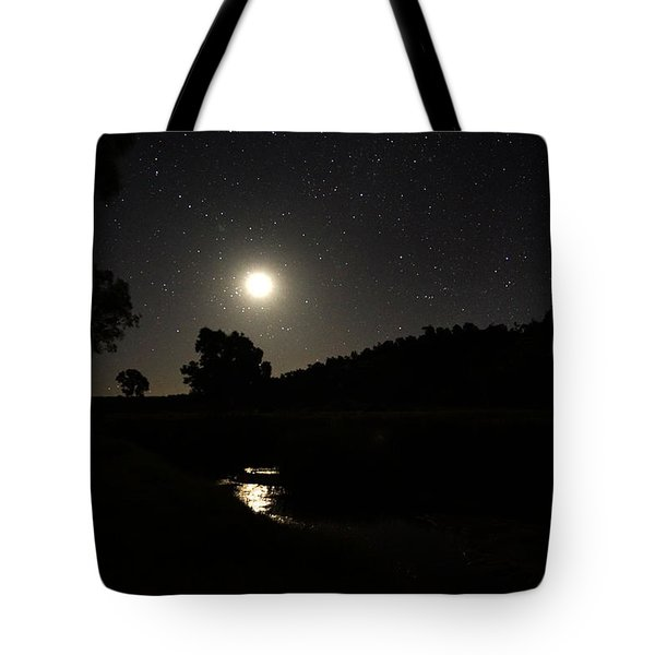 Moon Set Over Palm Valley 2 Tote Bag