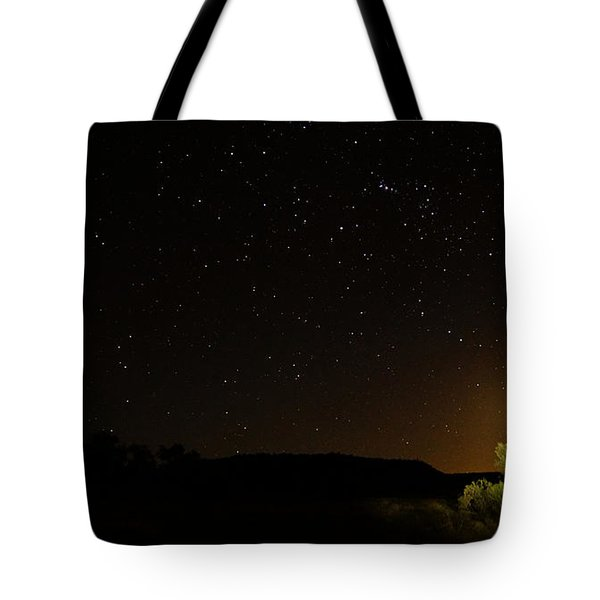 Moon Set Over Palm Valley Tote Bag