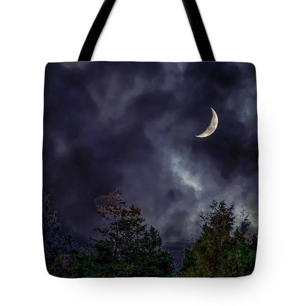 Moon Shine Over The Okanagan Tote Bag