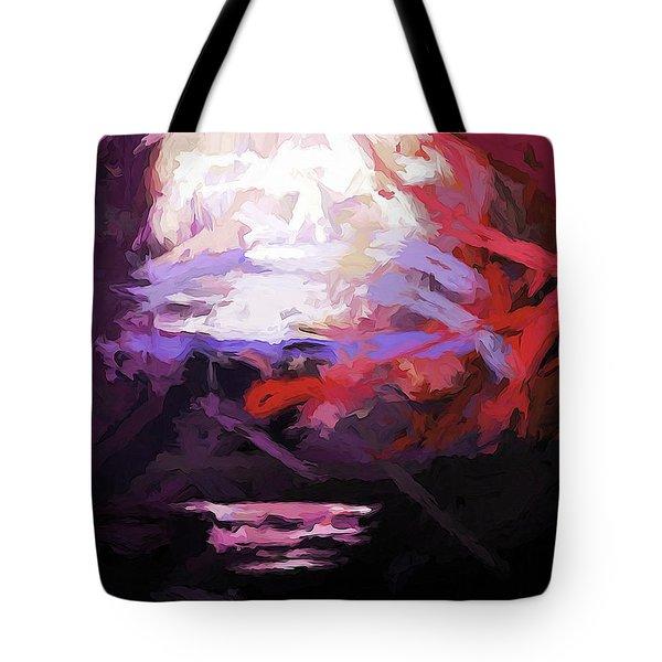 Moon Sky Pink Sea Tote Bag