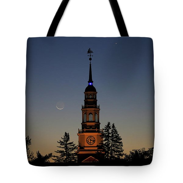 Moon, Venus, And Miller Tower Tote Bag