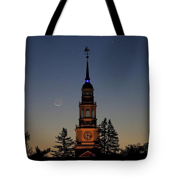 Moon, Venus, And Miller Tower Tote Bag