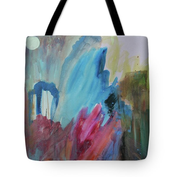 Tote Bag featuring the painting Moonchaser by Robin Maria Pedrero