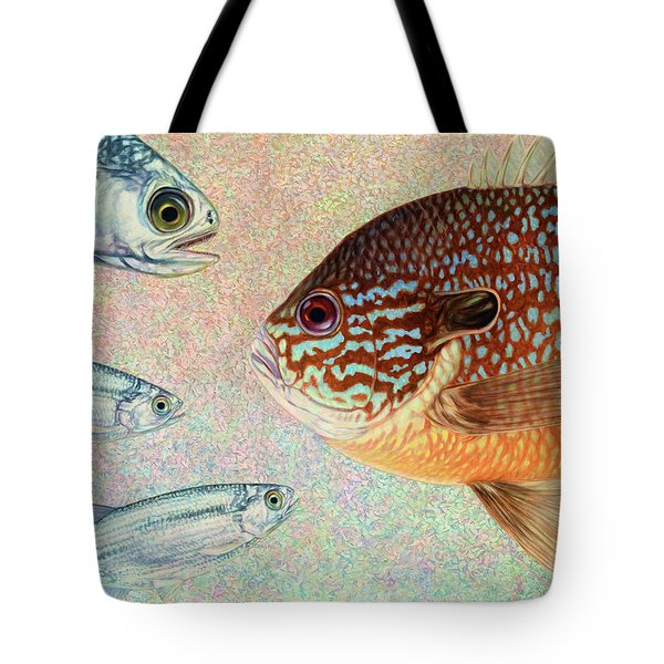 Mooneyes, Sunfish Tote Bag by James W Johnson
