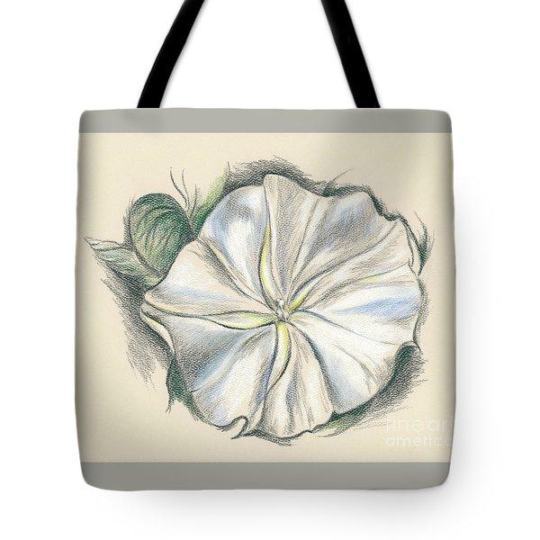 Moonflower Mixed Media Drawing Tote Bag