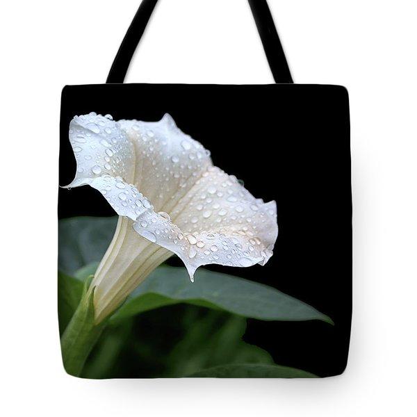 Moonflower - Rain Drops Tote Bag