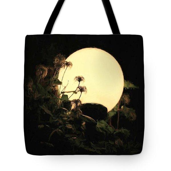 Moonglow Thistles Tote Bag