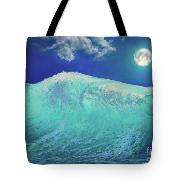 Moonlight At Sea Tote Bag