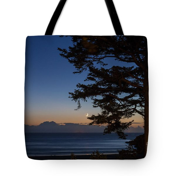 Moonlight At The Beach Tote Bag