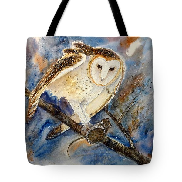 Moonlight Feast - Barn Owl Tote Bag