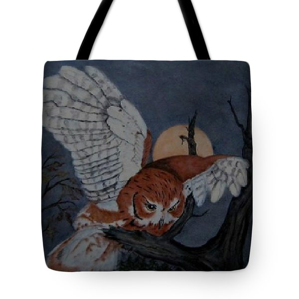 Moonlight Flight Tote Bag by Sandra Maddox