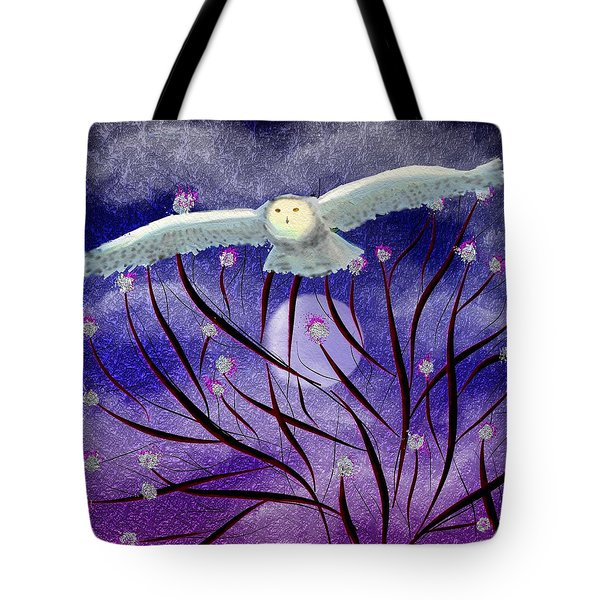 Tote Bag featuring the digital art Moonlight Hunt by Iowan Stone-Flowers