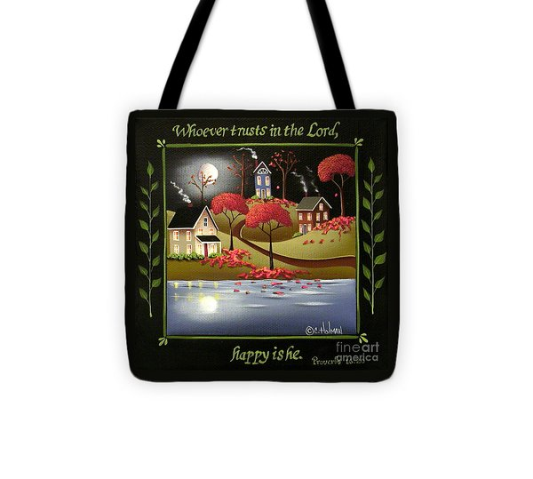 Moonlight In Cottage Grove Tote Bag by Catherine Holman