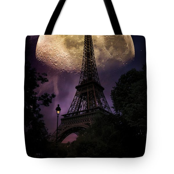 Moonlight In Paris Tote Bag by John Rivera