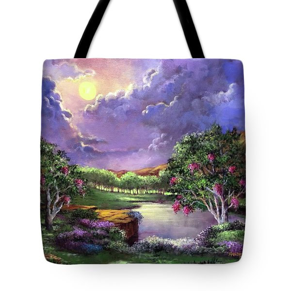 Moonlight In The Woods Tote Bag