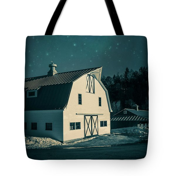 Tote Bag featuring the photograph Moonlight In Vermont by Edward Fielding