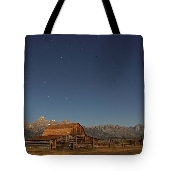 Moonlight On A Mormon Barn Tote Bag