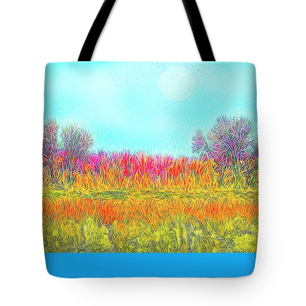 Tote Bag featuring the digital art Moonlight On Golden Fields - Boulder County Colorado by Joel Bruce Wallach