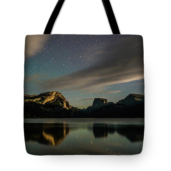 Moonlight On Green River Lake Tote Bag