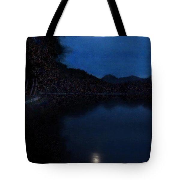 Moonlight On Lake Wolfgang Tote Bag