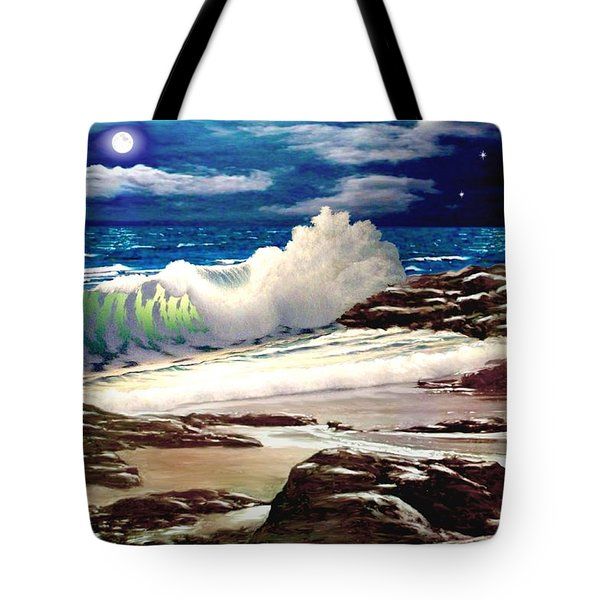 Moonlight On The Beach Tote Bag