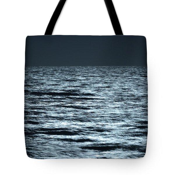 Moonlight On The Ocean Tote Bag