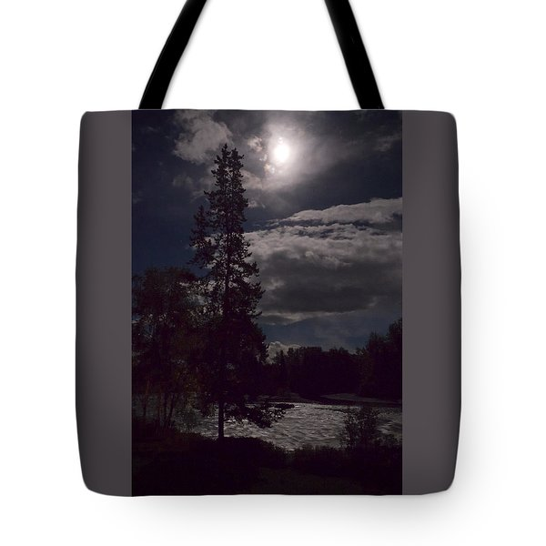 Moonlight On The River Tote Bag