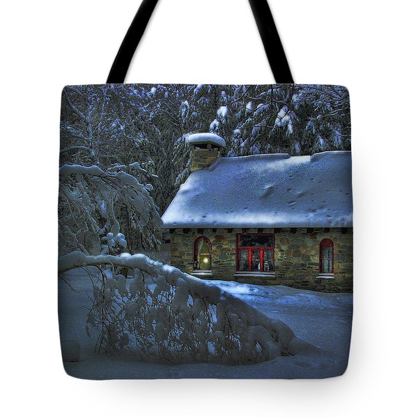 Moonlight On The Stonehouse Tote Bag