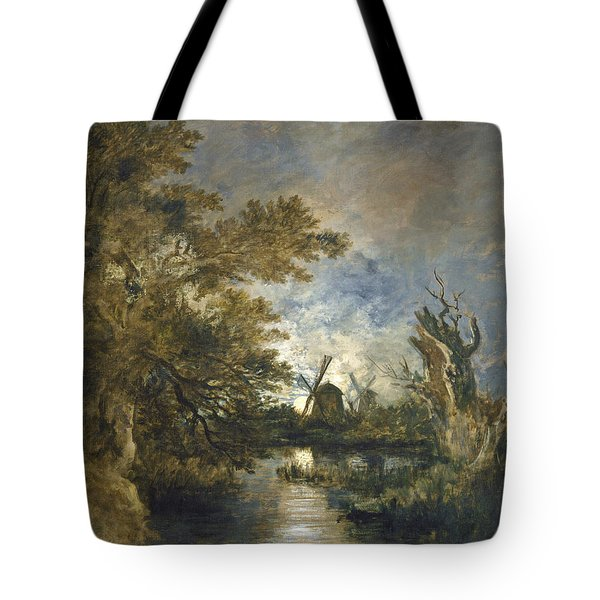 Moonlight On The Yare Tote Bag