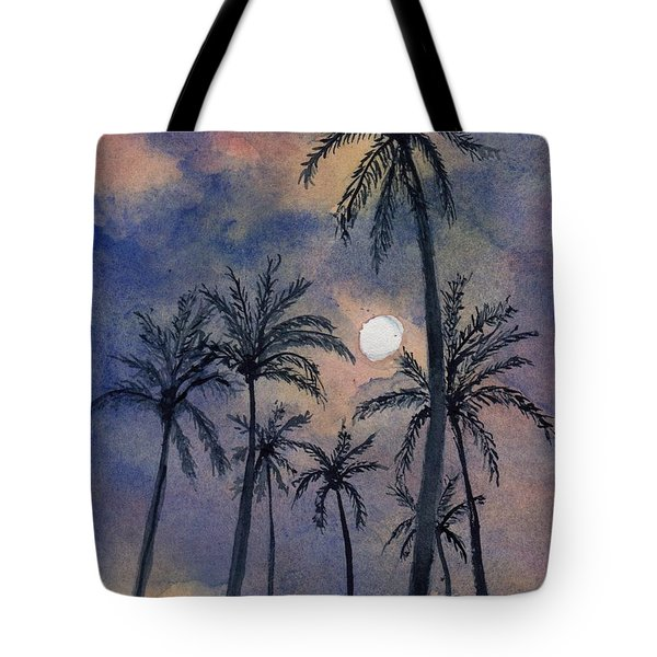 Moonlight Over Key West Tote Bag