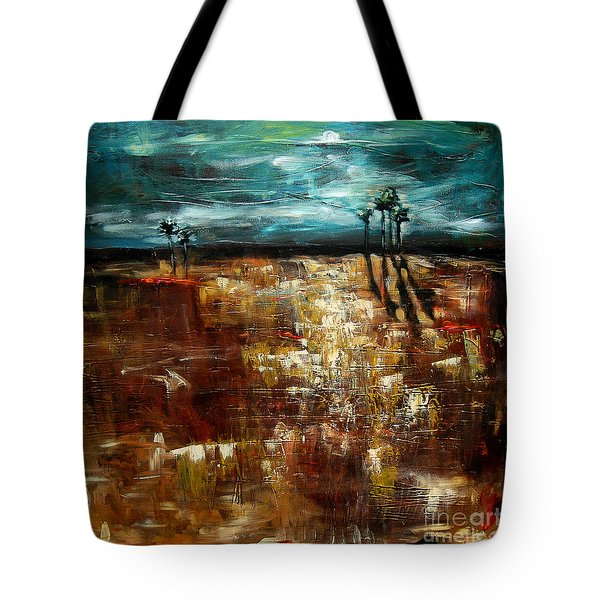 Moonlight Over The Marsh Tote Bag