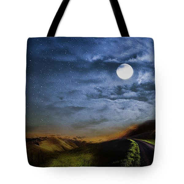 Moonlight Path Tote Bag by Swank Photography