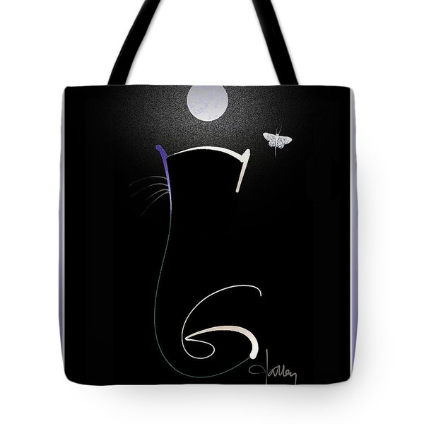 Tote Bag featuring the mixed media Moonlight Rendezvous 3 by Larry Talley
