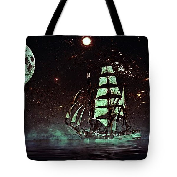Moonlight Sailing Tote Bag