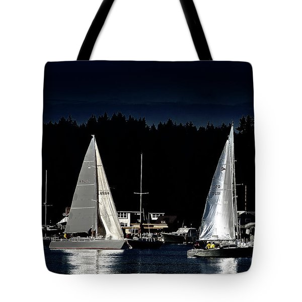 Tote Bag featuring the photograph Moonlight Sailing by David Patterson