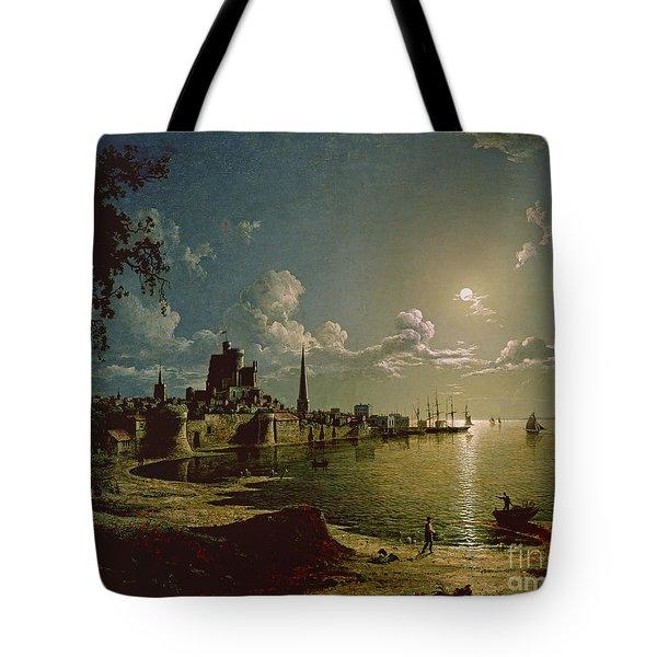 Moonlight Scene Tote Bag