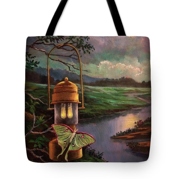 Moonlight, Silhouettes And Shadows Tote Bag