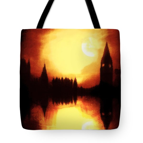 Tote Bag featuring the digital art Moonlight-sonata  by Fine Art By Andrew David
