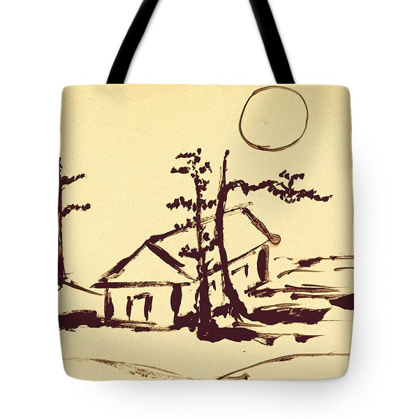 Moonlight Under Pine Trees  Tote Bag