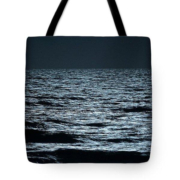 Moonlight Waves Tote Bag