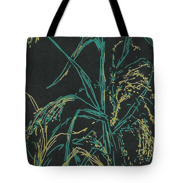 Tote Bag featuring the mixed media Moonlight Wheat by Vicki  Housel