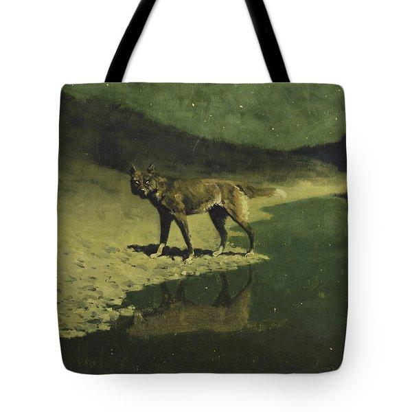 Moonlight, Wolf Tote Bag
