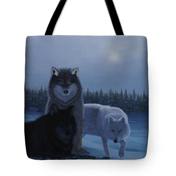 Moonlight Wolves Tote Bag